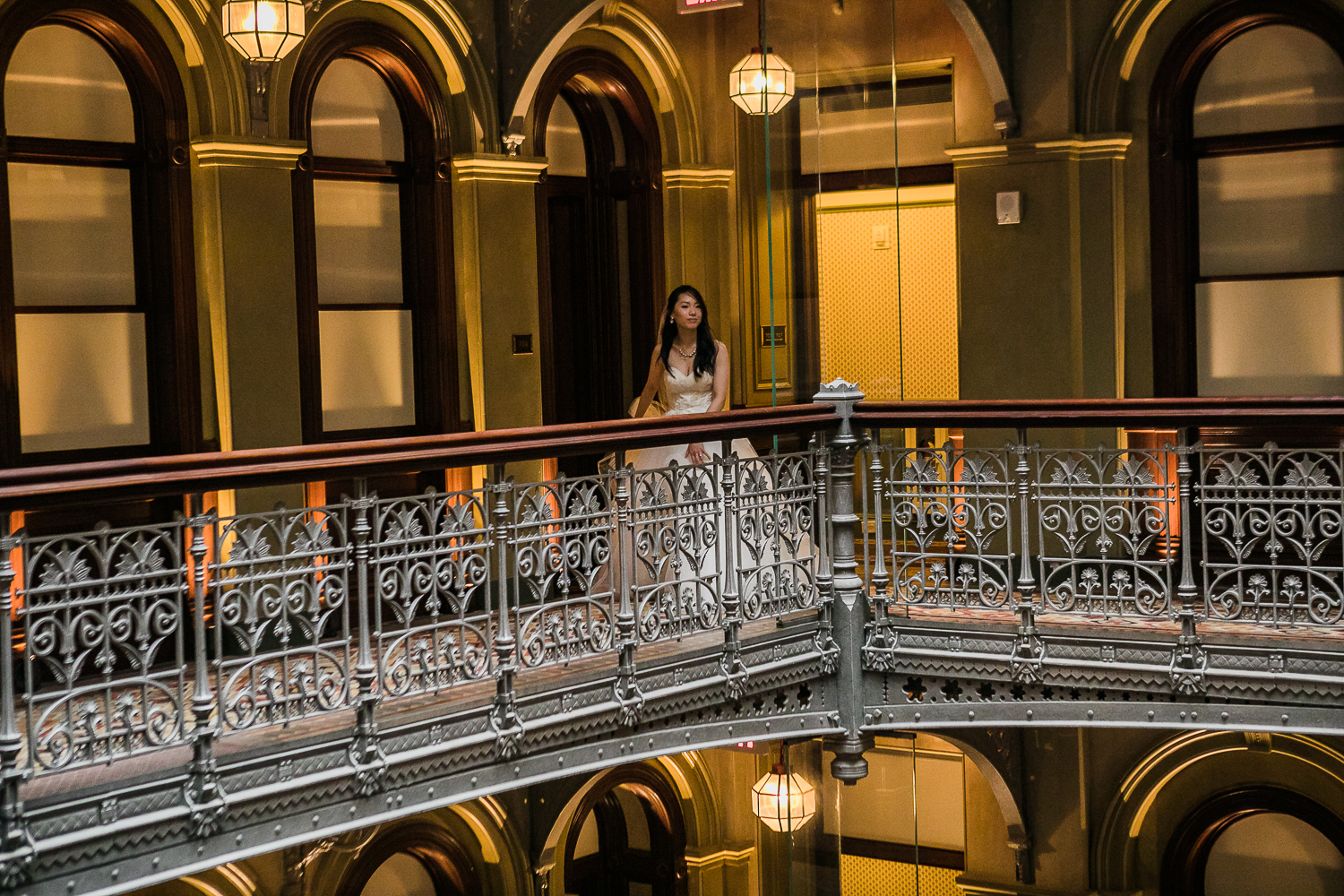 Portrait of a bride at the Beekman Hotel in New York City | Beekman Hotel Wedding Photos | Jason and Susanna's Glam NYC Elopement