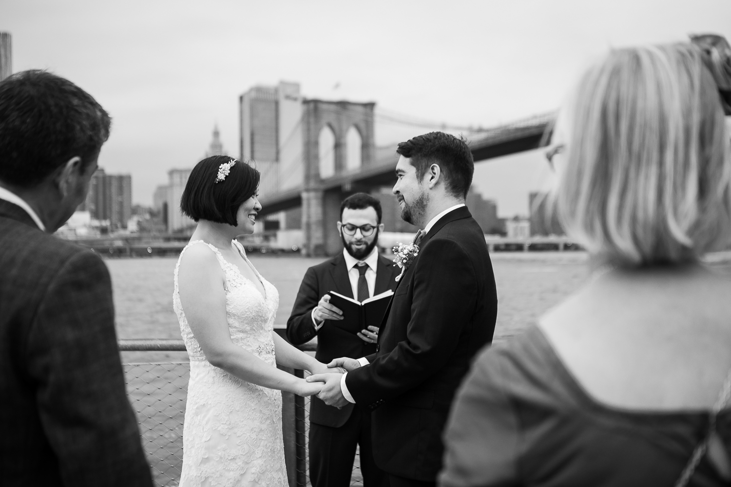 Married by Marley officiating a wedding in DUMBO