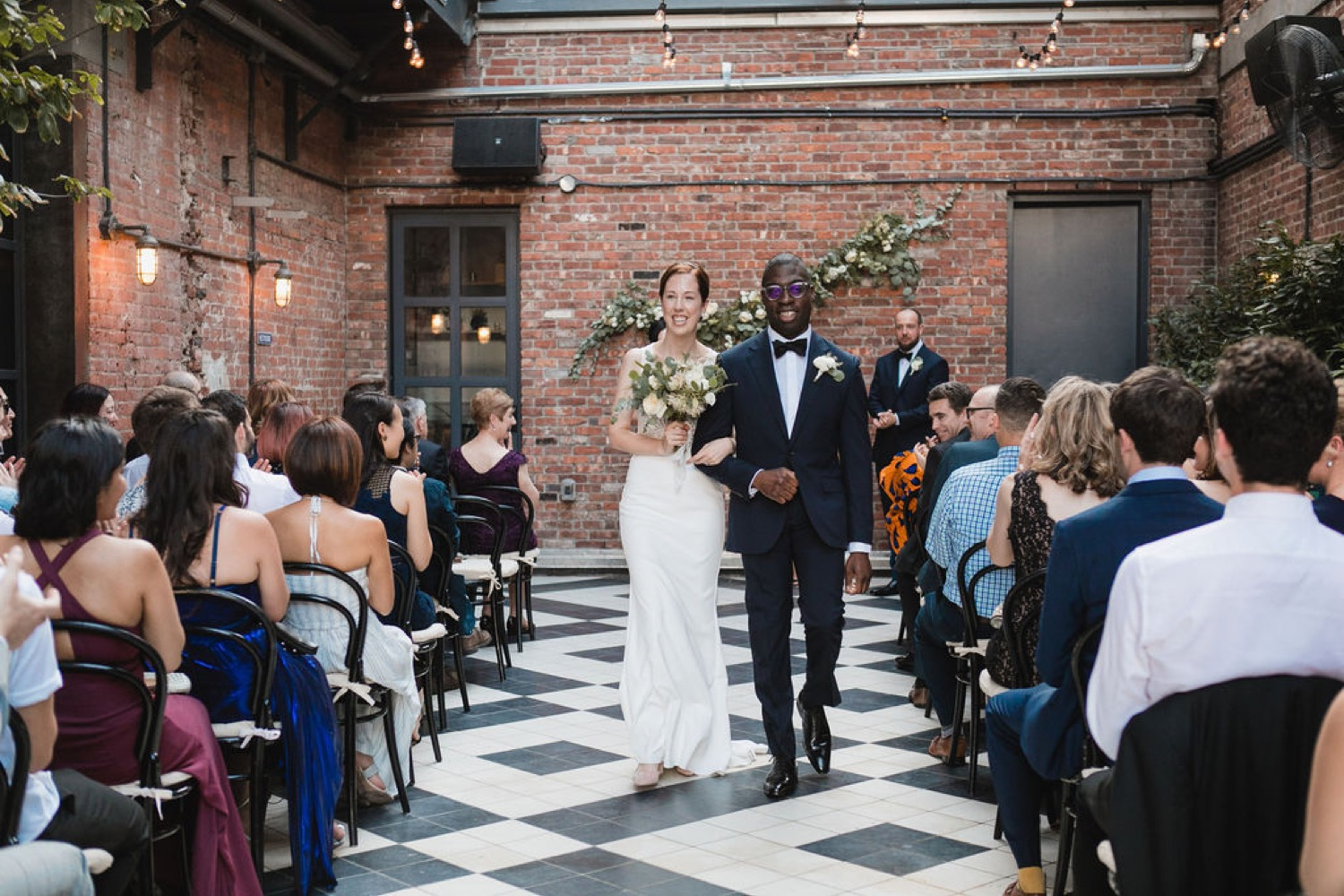 Wedding ceremony at the Wythe Hotel