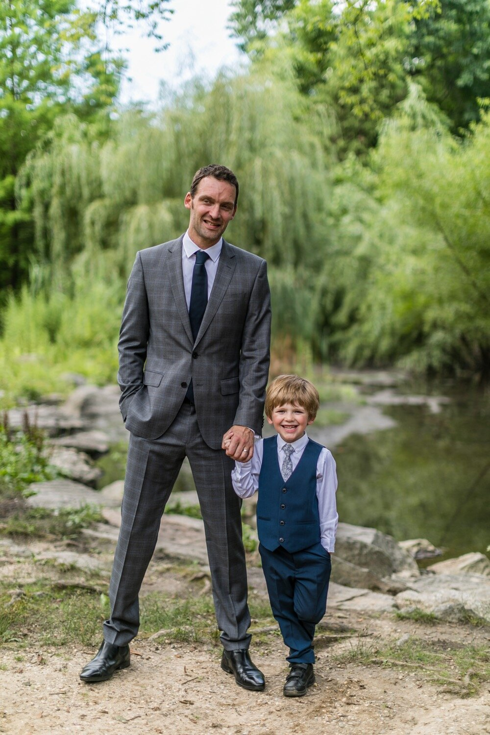 Groom and page boy.