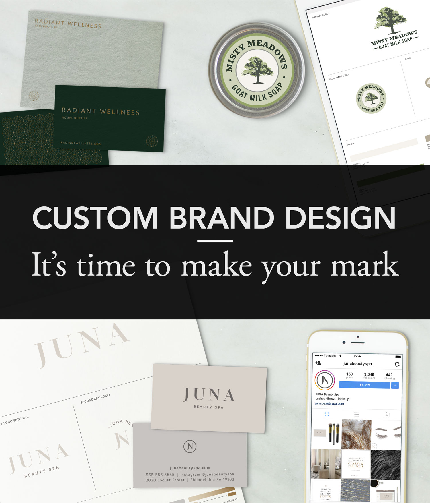 Ready to launch your new business but hung up on your image? Book a Design package with a professional brand designer - Susan Krajan Levitt is a branding and web designer with a flair for minimalism and purpose. Working one-on-one with each of her clients, she delivers custom crafted logos and brand identities that are guaranteed to elevate your business.Value: $1500Starting Bid: $350