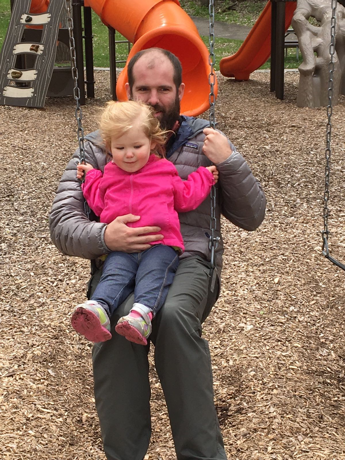 Swinging with my little Niece Stella in Minnesota!
