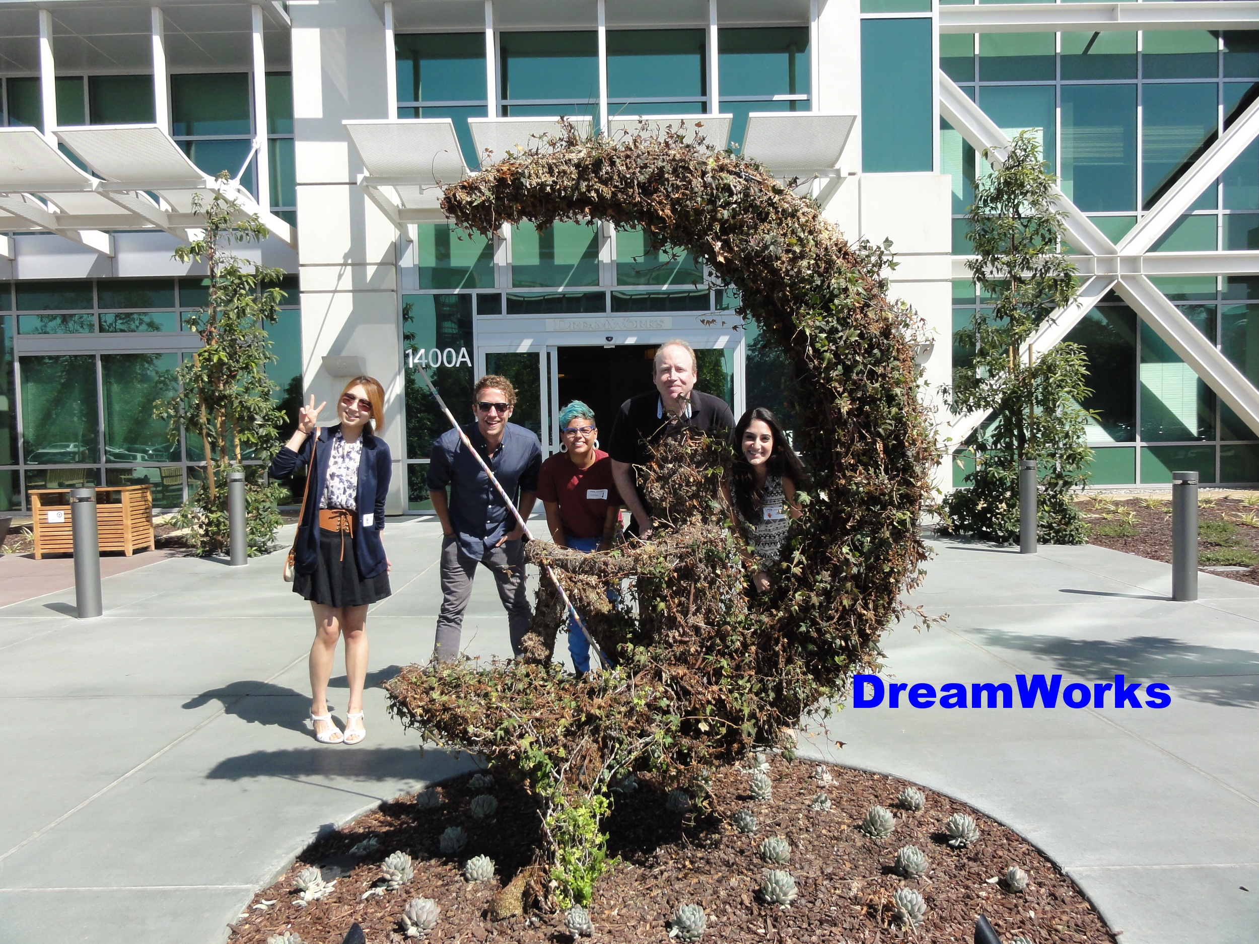 At Dreamworks with students.JPG