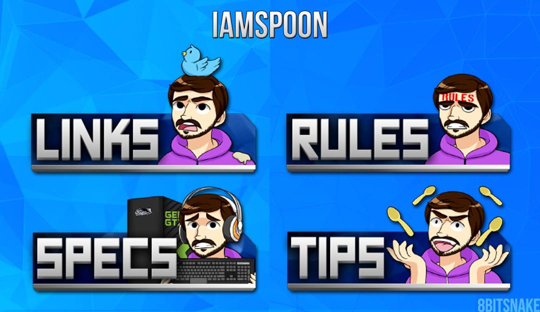 iamSp00n Twitch Panels