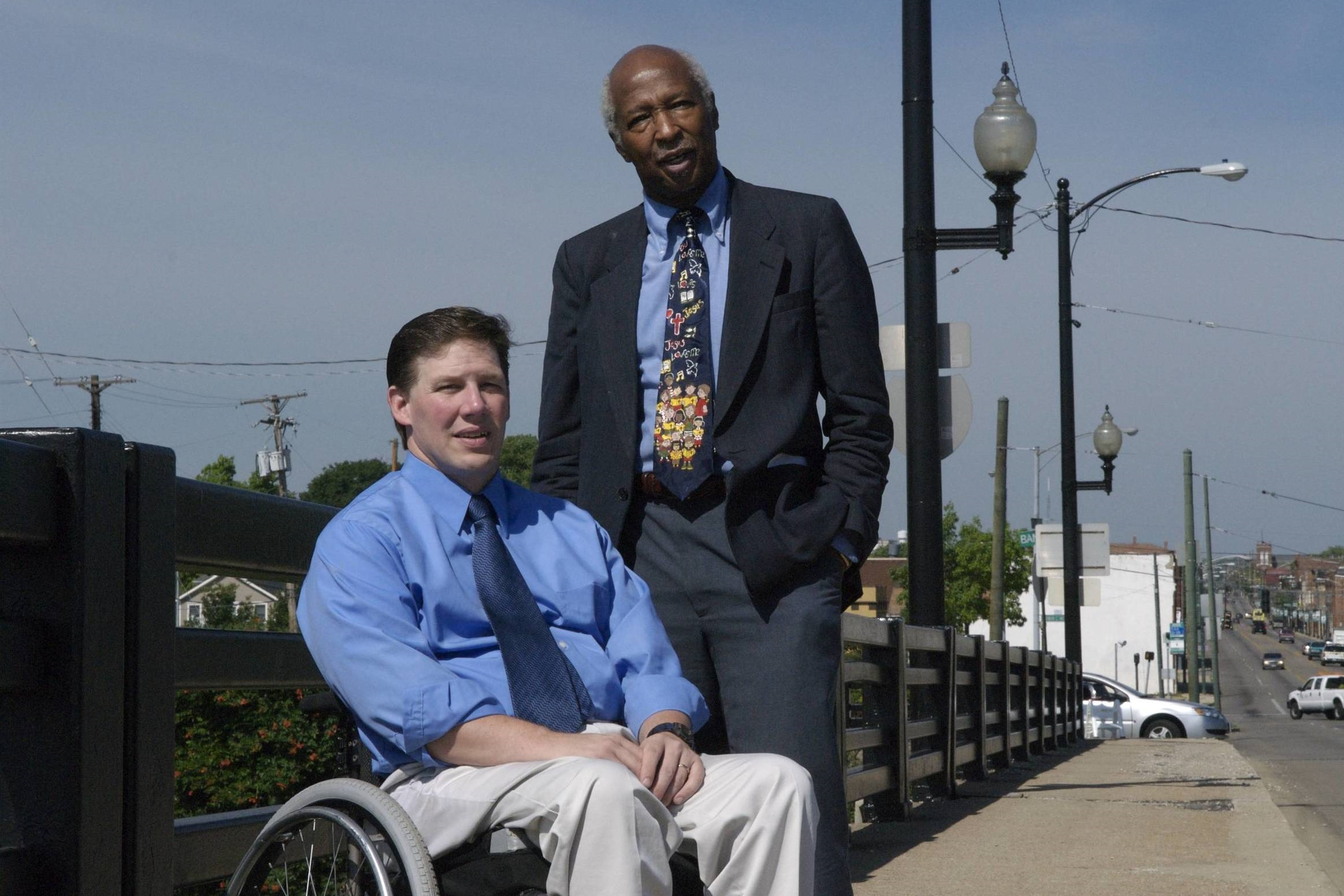Pastor Darryl Fairchild & Rev. Robert E. Jones - Photographed on the Third Street Bridge in Dayton, OH, also known as the Peace Bridge for its connection of the historically divided east and west sides of the city.