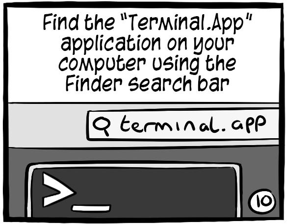 Open your Terminal app