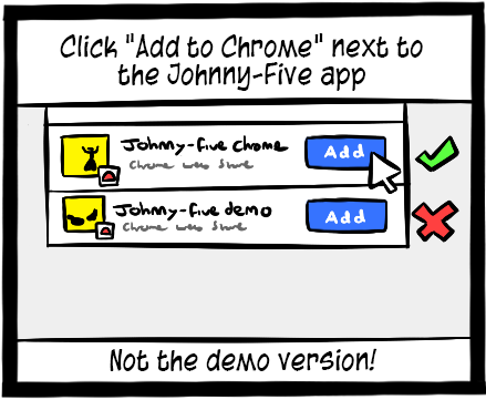 Find the Johnny-five app in the list