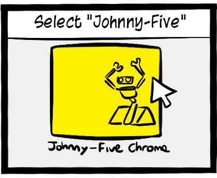Make sure your Arduino is plugged in.  Double click on Johnny-Five