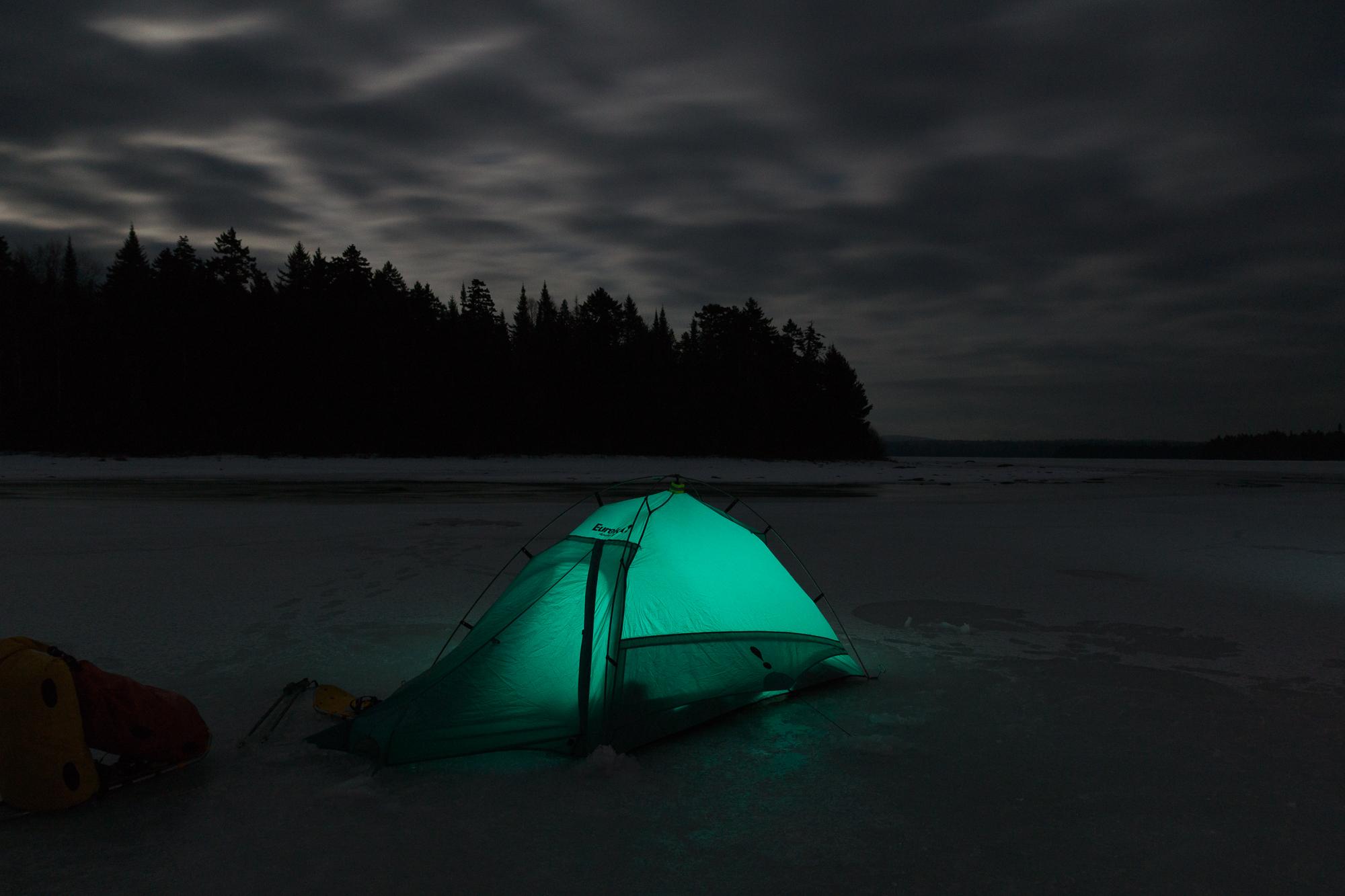 Troscianiec night tent on ice photo-06167.JPG