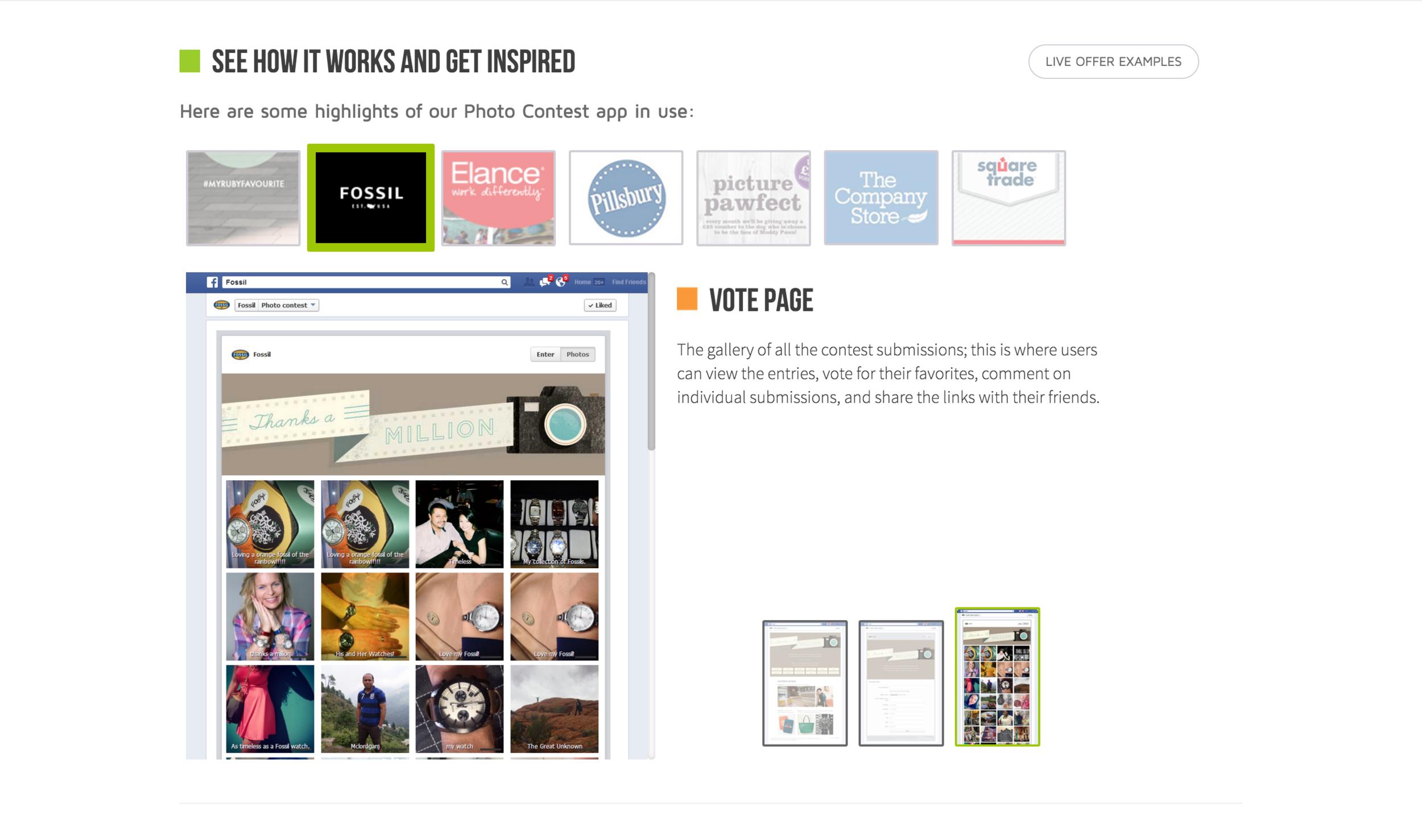 Photo Contest App Inspiration | Vote Page
