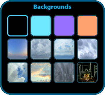 Background options.