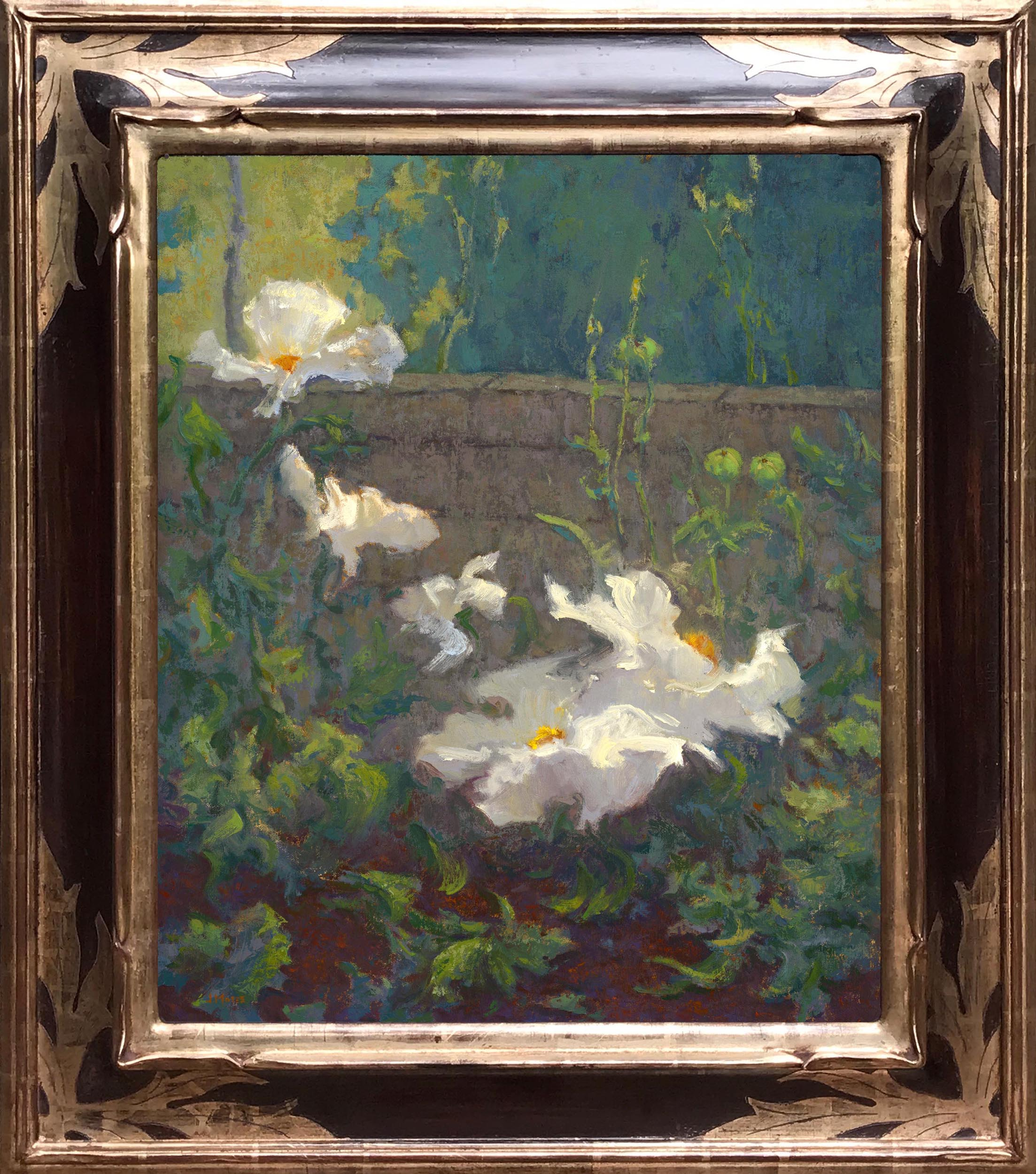 Matilija Poppies, Spring Bloom / 24 x 20 inches / oil on canvas panel