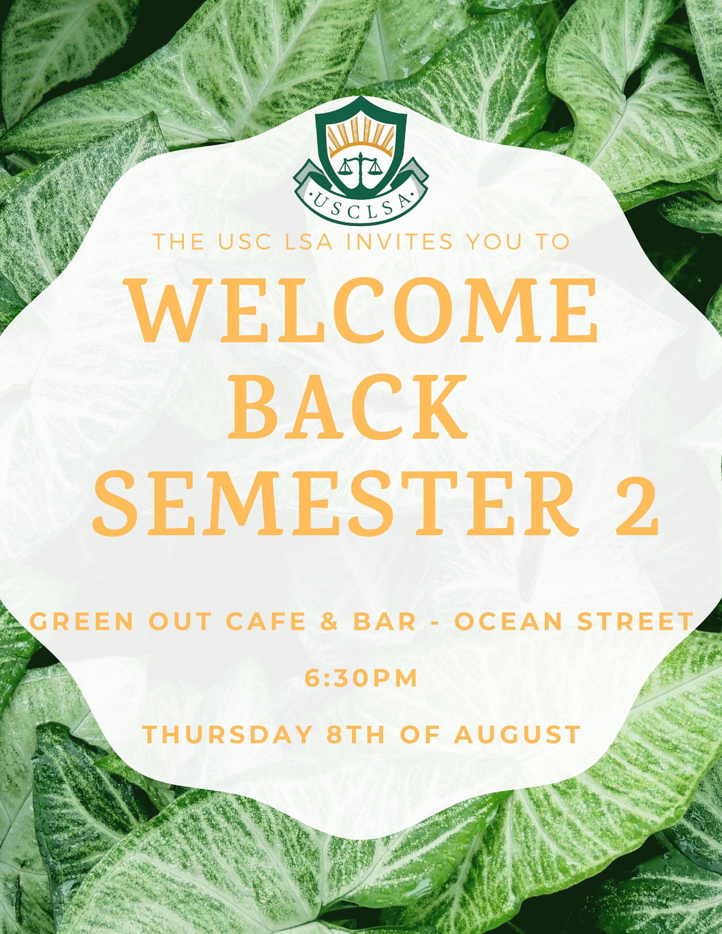 Welcome Event Sem 2