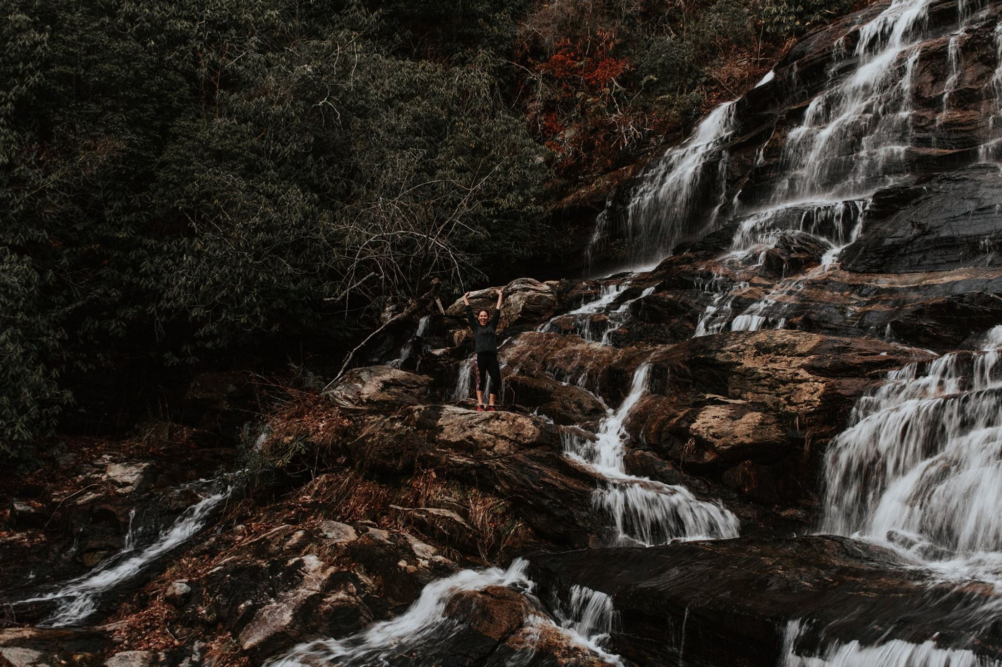 That's me, goofing off and climbing waterfalls. (Goofing off in a responsible manner, of course. I do not recommend doing this at home.) I don't do this stuff because it looks cool on Instagram. I do it because it's what I LOVE to do!