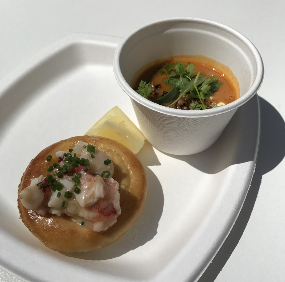 Frenchie  Chef Gregory Marchand  Brittany blue lobster roll, with lobster bisque