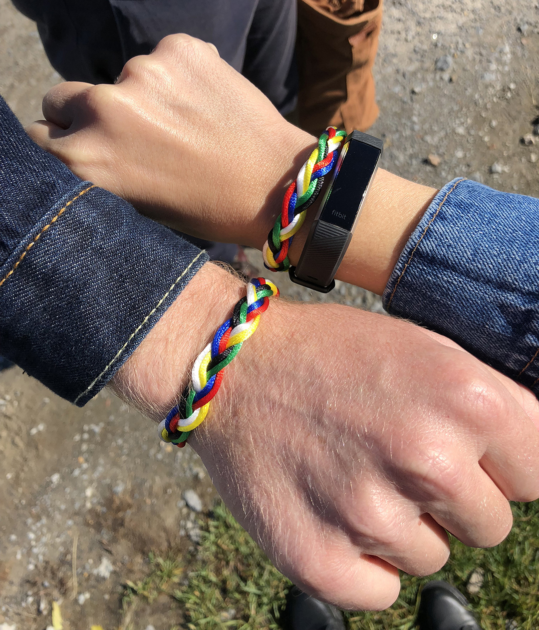 We received bracelets upon arrival to indicate we were guests but they made cool BFF bracelets! Why is Ben's hand so big?!