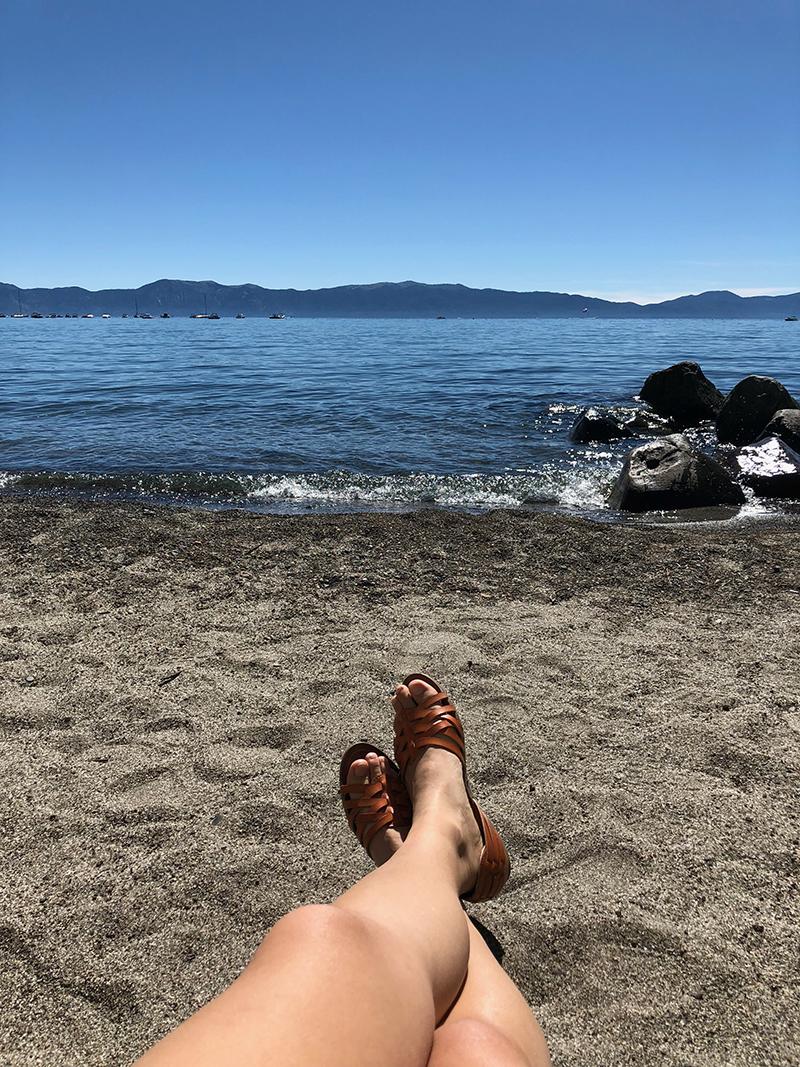 Lounging at Lake Tahoe