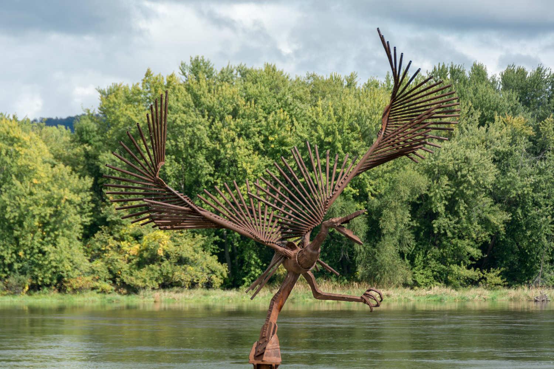 Riverfront sculpture