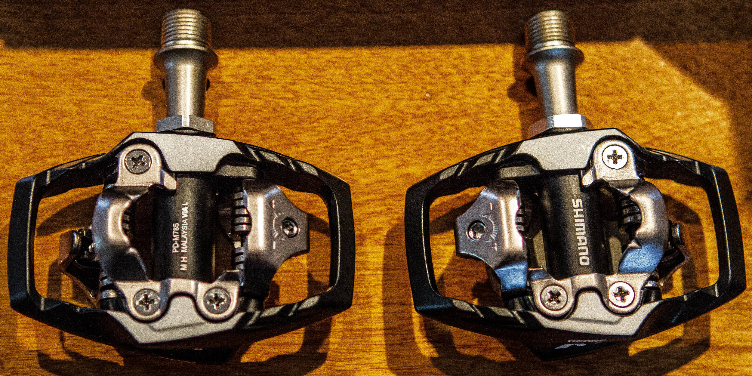A set of Shimano XT Trail pedals
