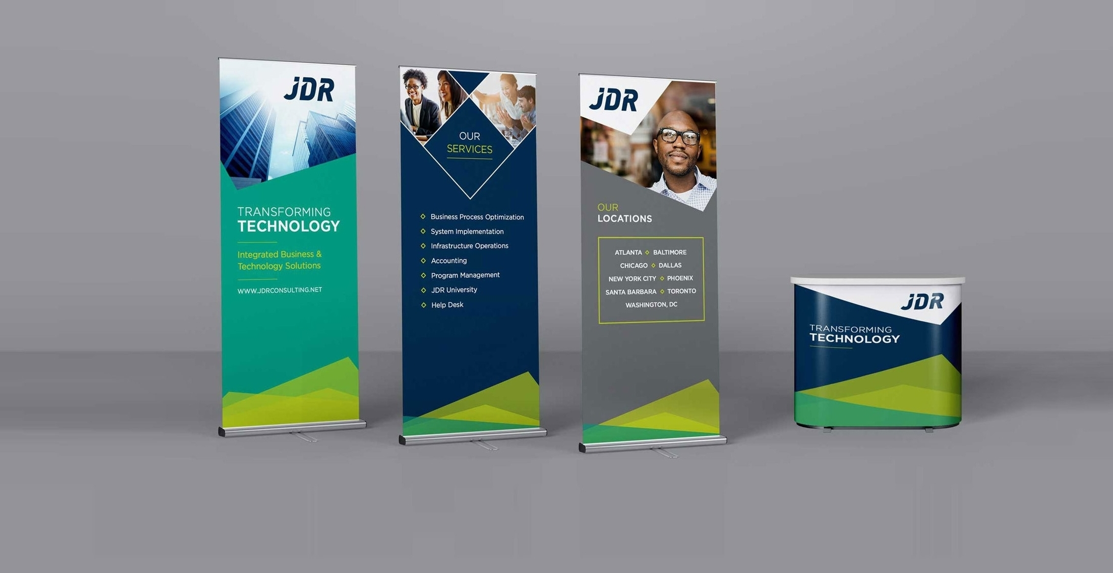 "JDR Consulting<strong>Branding, Website, Print & Large Display</strong><a href=""/jdr-portfolio"">View Project</a>"