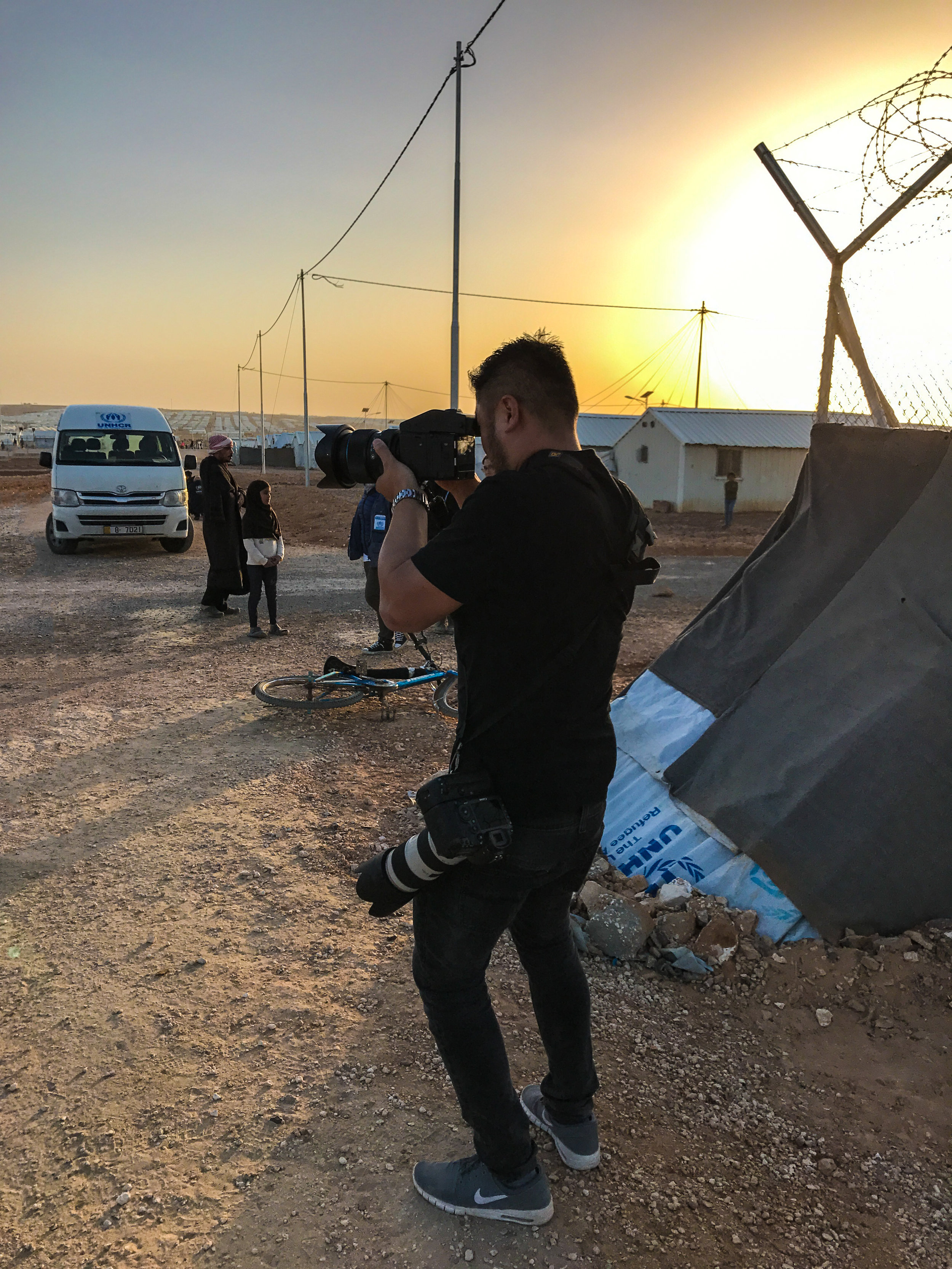 UNHCR AZRAQ REFUGEE CAMP, JORDAN