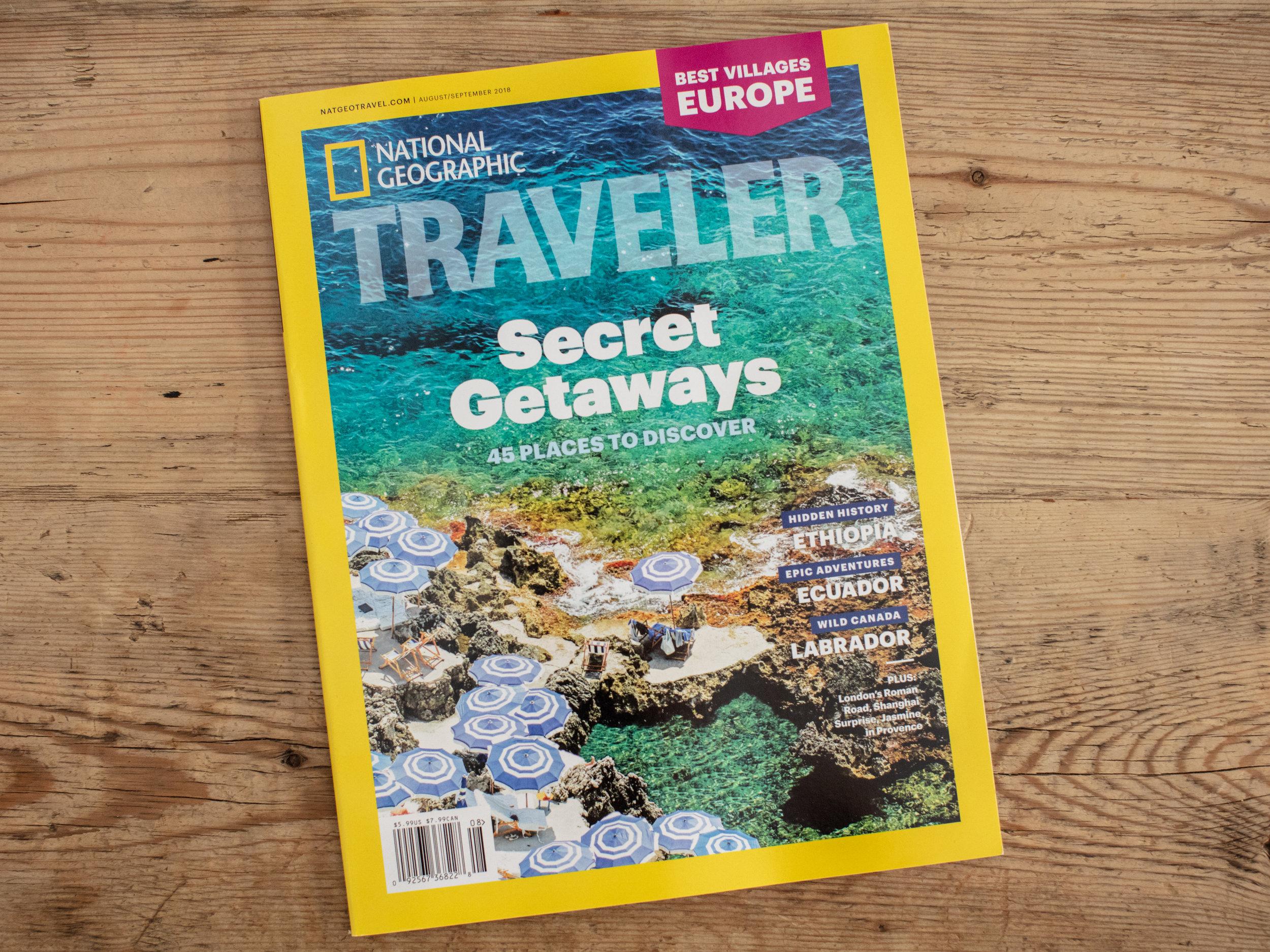 National Geographic Traveler Cover August/September 2018 ( Fontelina I, Capri)