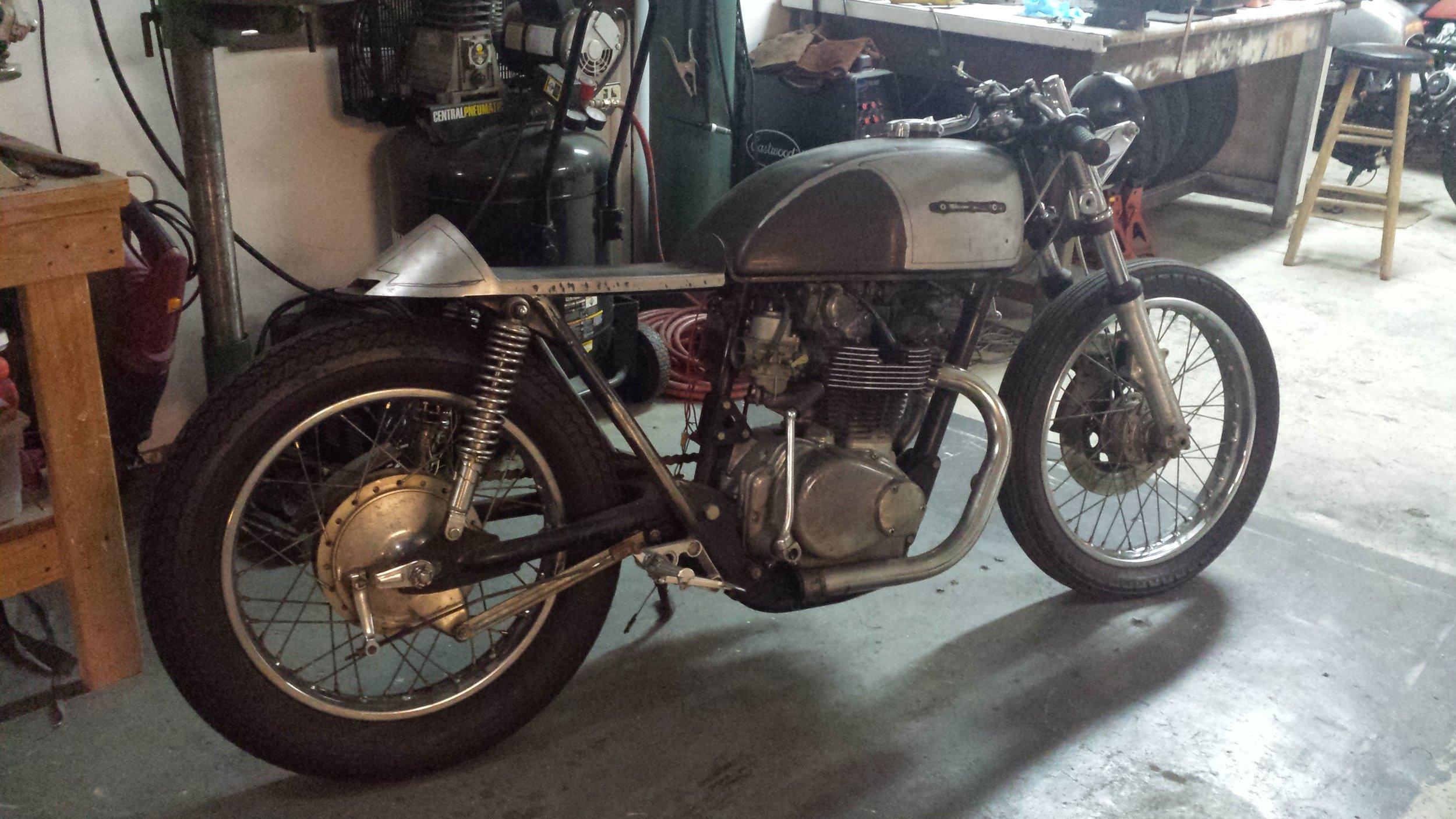 1975 Honda CB500T - Before