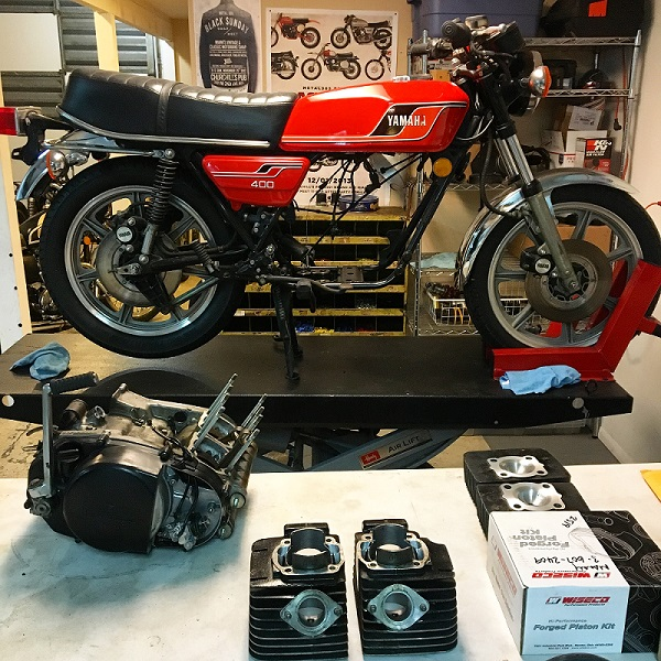 1977 Yamaha RD400 - Engine Build