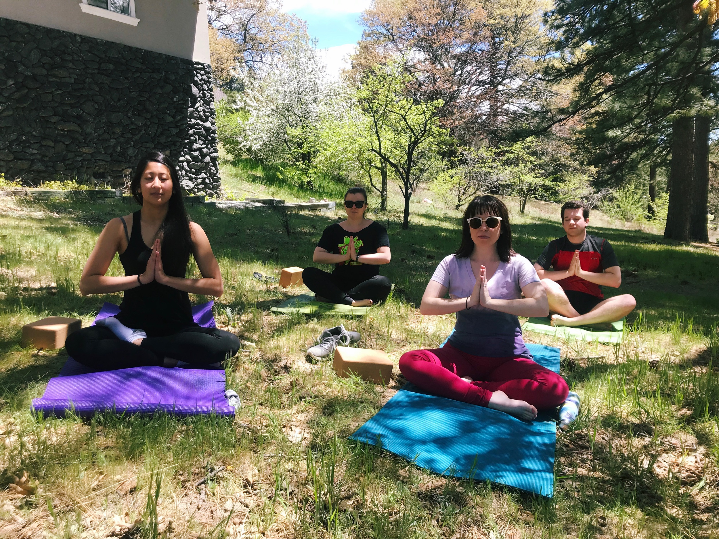 Playwrights can do yoga, too.