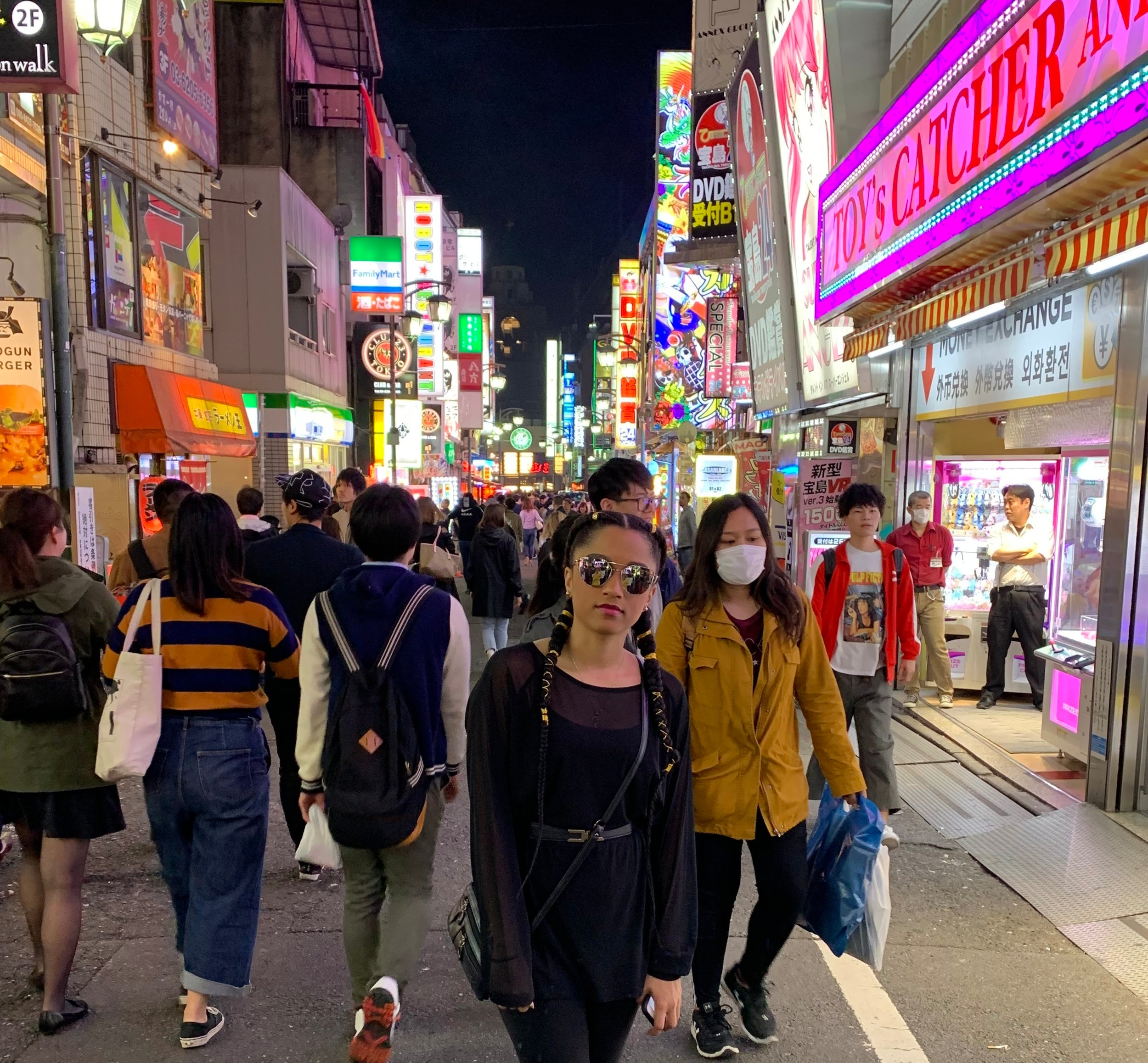 Mystery Girl in Shinjuku Tokyo