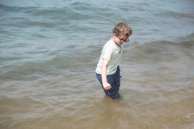 Boy at lake