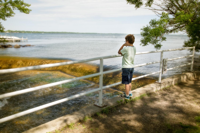 Boy at Spillway