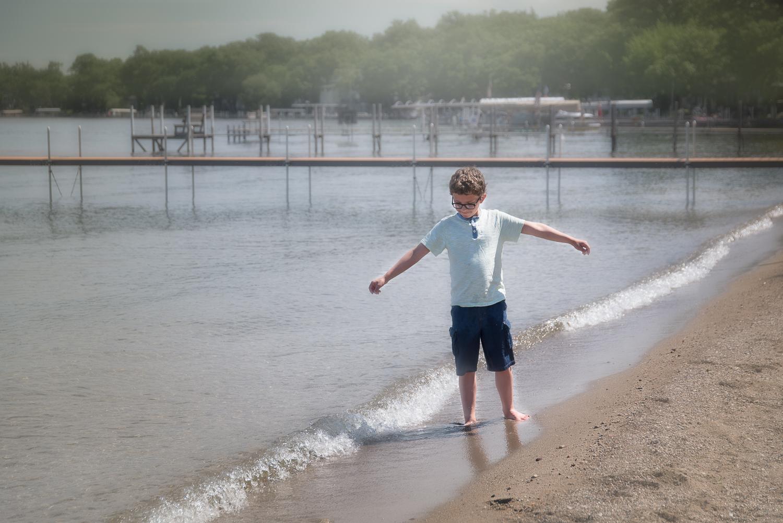 Boy on shore