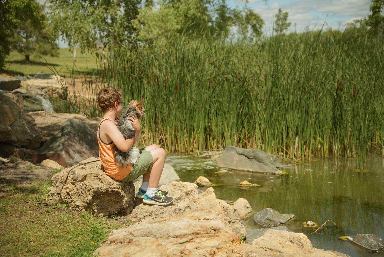dog-boy-park-pond-west-fargo