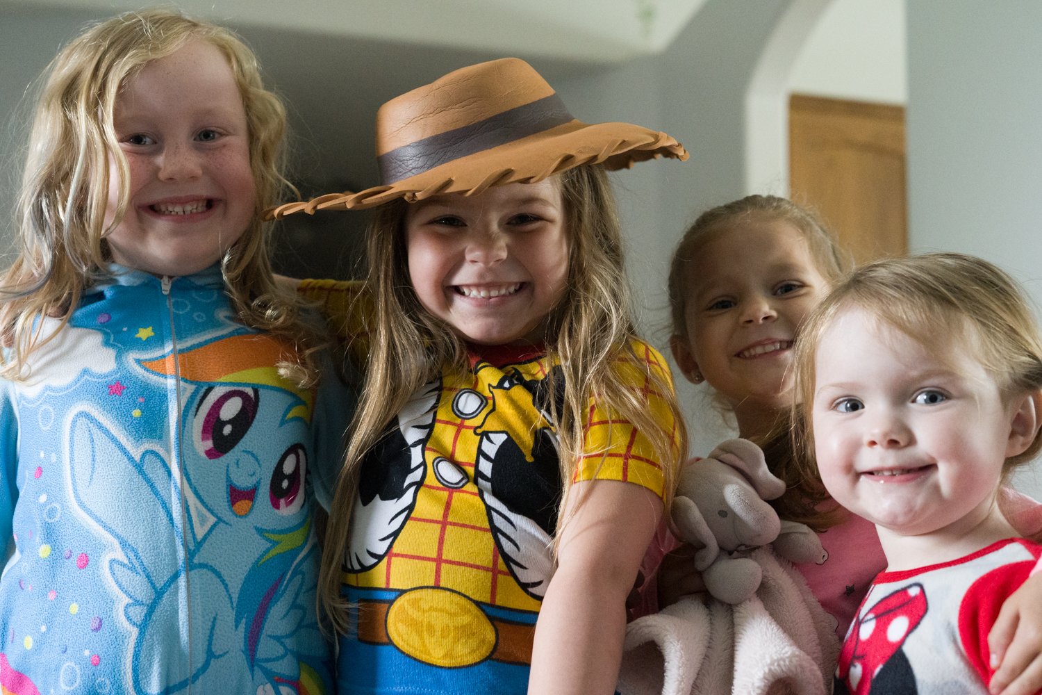 Daycare children enjoying a day of dress ups play in West Fargo, ND.