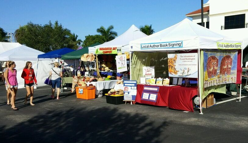 The Adventures of Ta and Boddington Booth at a local Florida Farmer's Market
