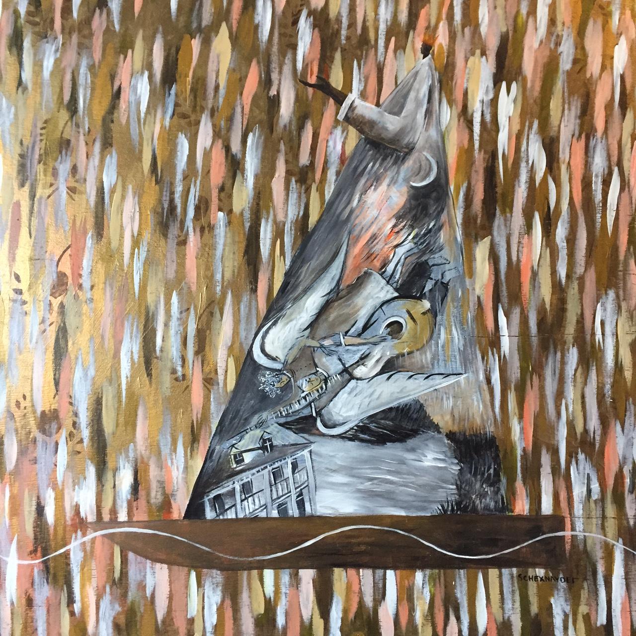 Angels and Shadows acrylic on wood  48 x 48.JPG