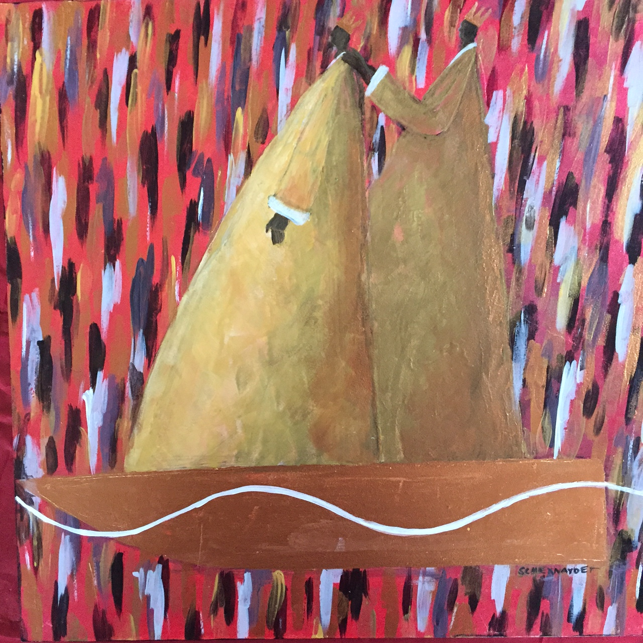 Mates acrylic on wood 14 x 14.JPG