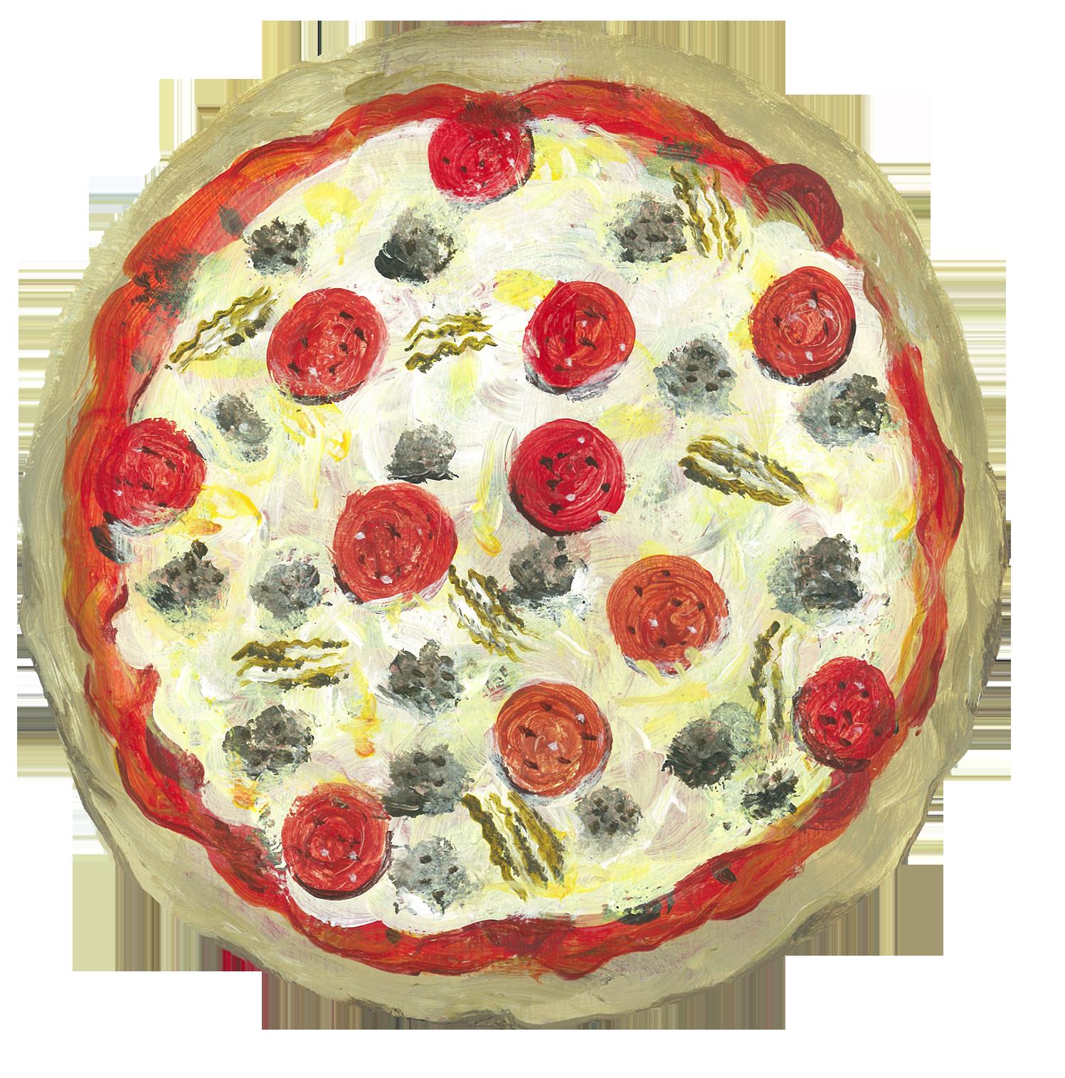Triple Meat Pizza