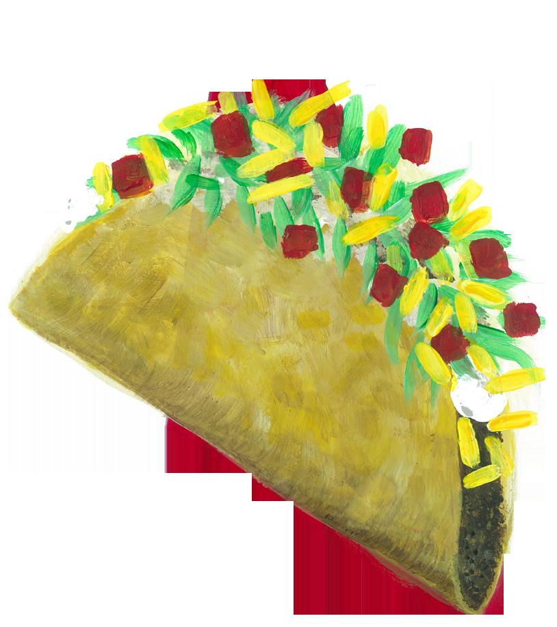 Over stuffed Taco