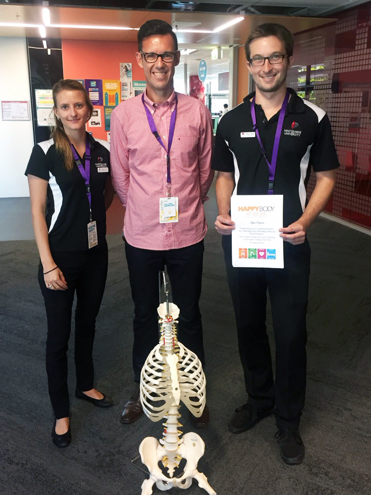 HBAW Business Partner, Troy Morgan (centre) pictured with HBAW Angels at Optus