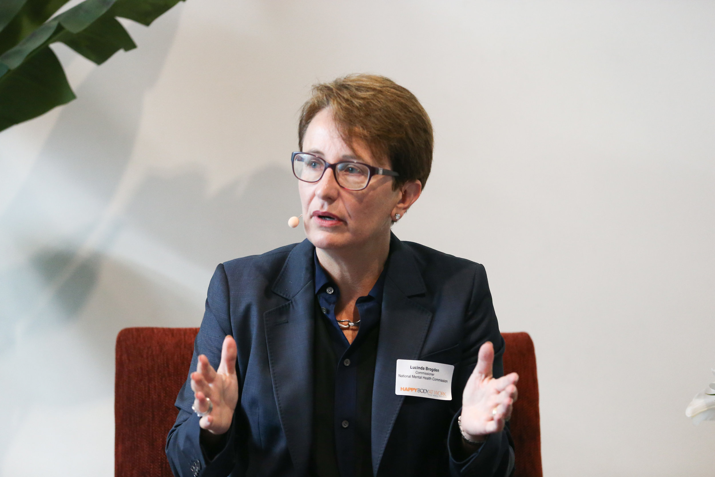 Commissioner Lucy Brogden speaking at the Thought Leadership Series forum in Sydney