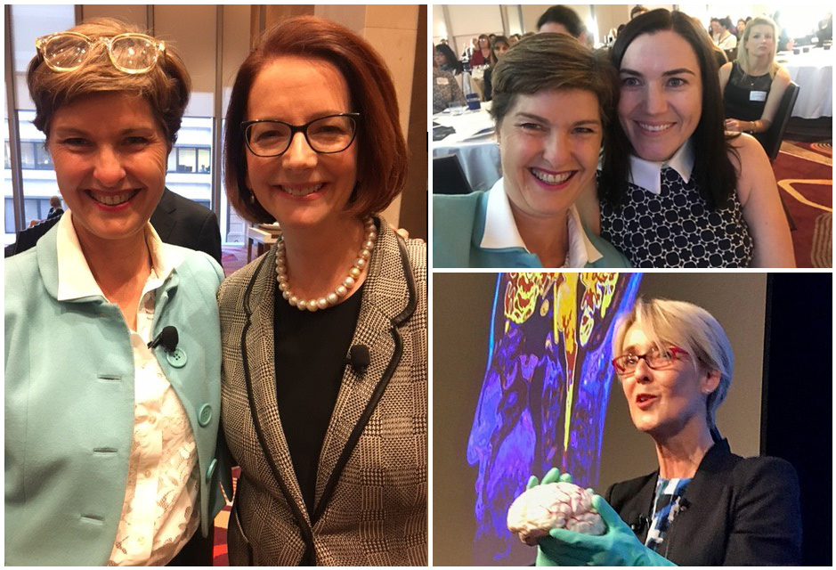 Anna-Louise with the Hon. Julia Gillard, Anna-Louise with Anna Meares, Dr. Jenny Brockis
