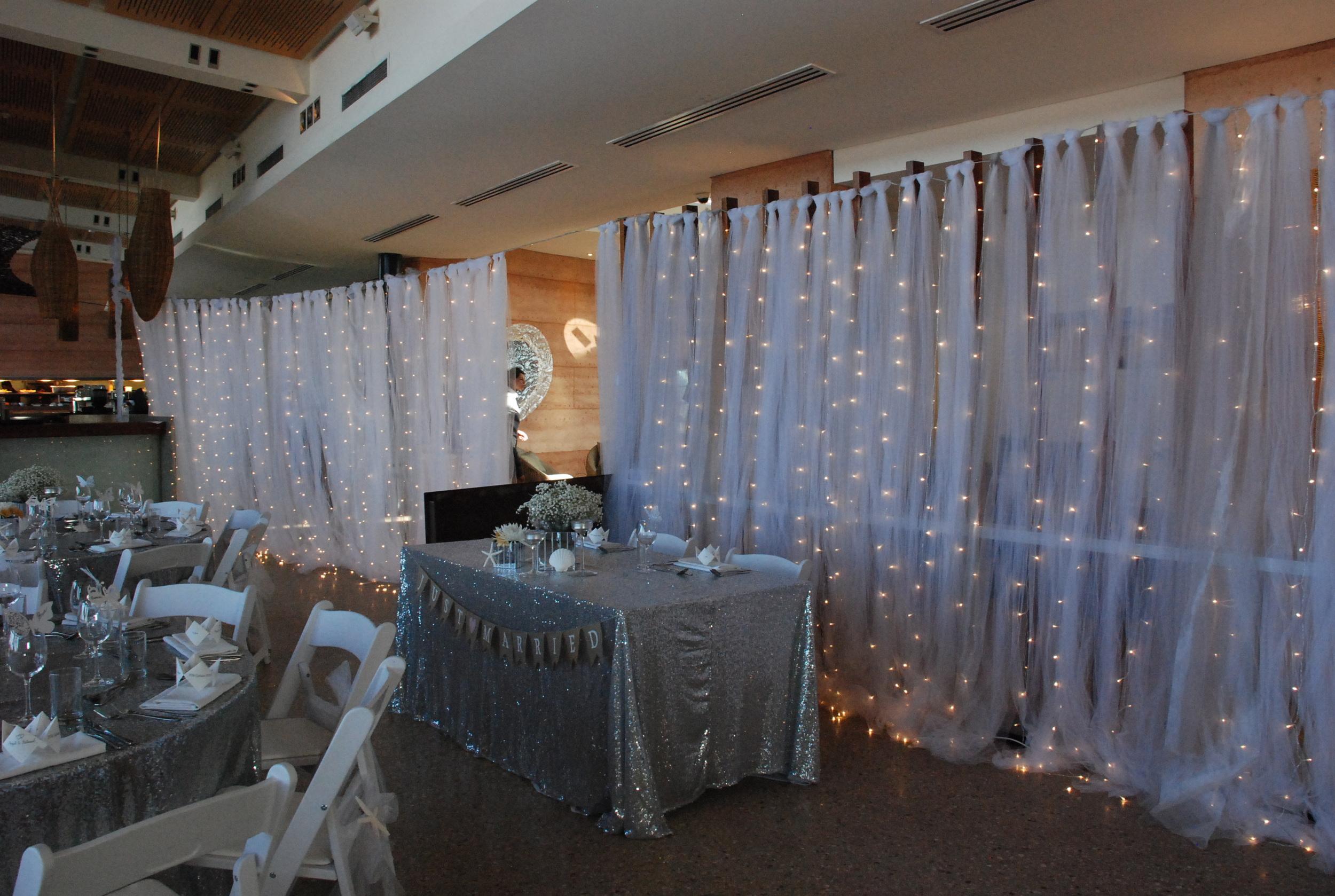 Tulle & Waterfall Fairy Light Divider