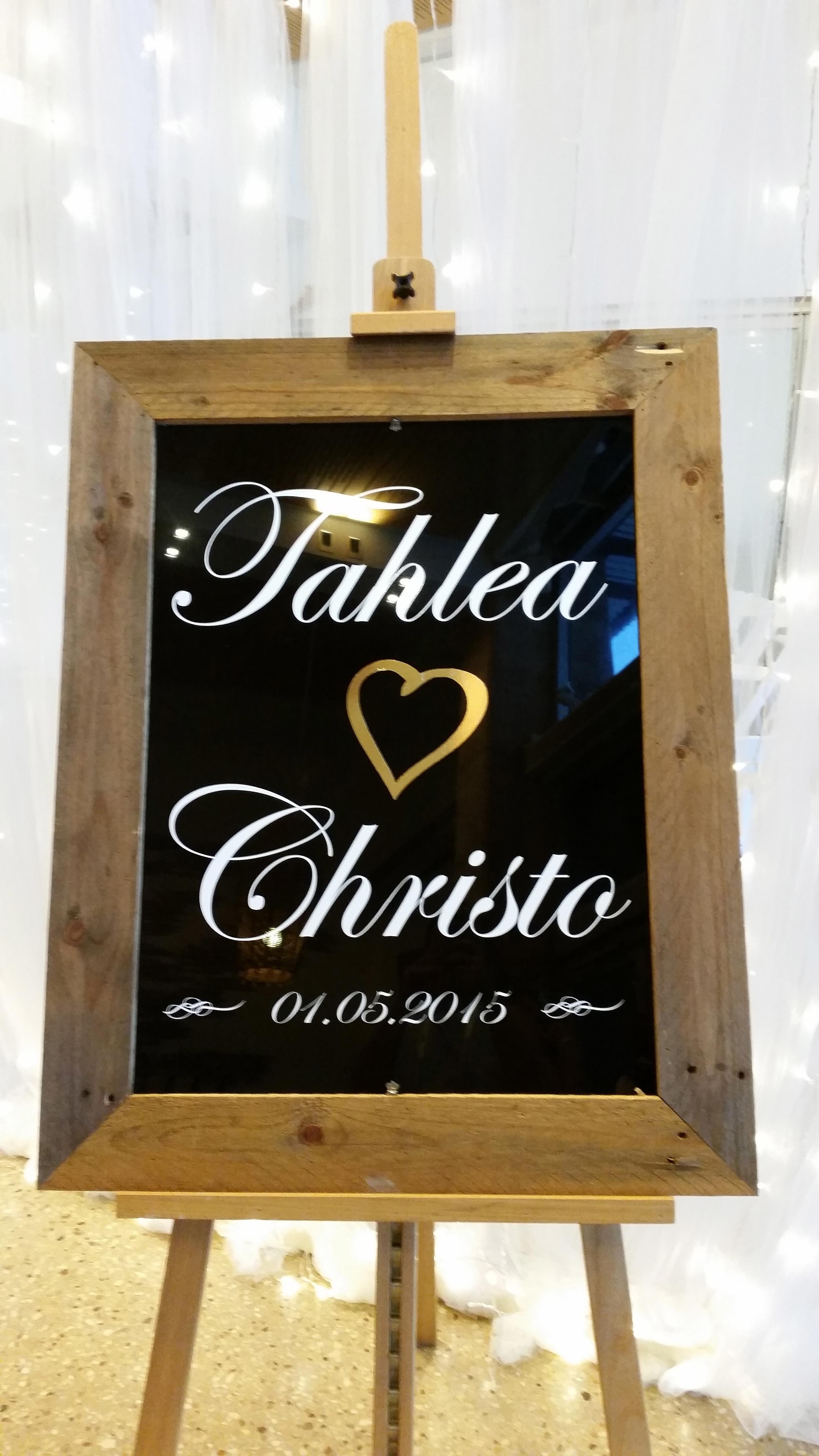 Customised Chalk Board
