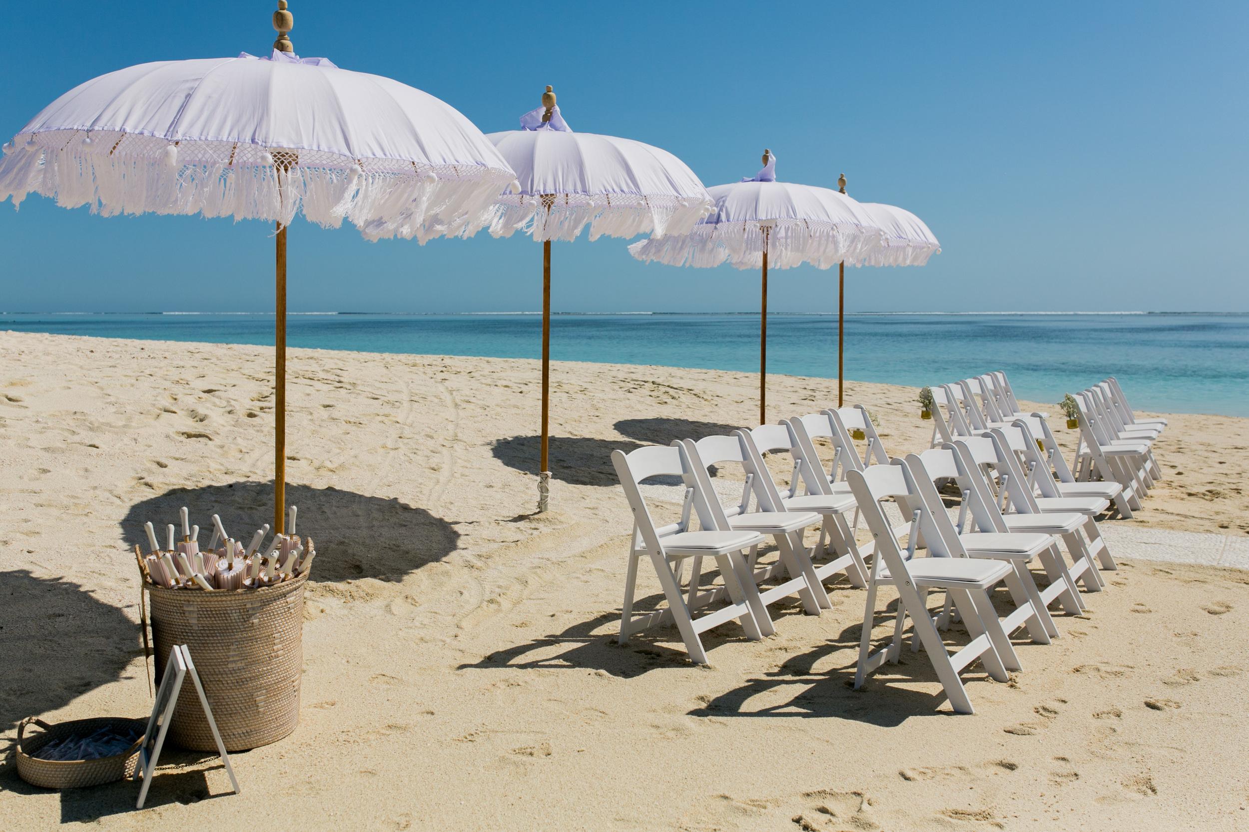 Bohemian Umbrellas & Gladiator Chairs