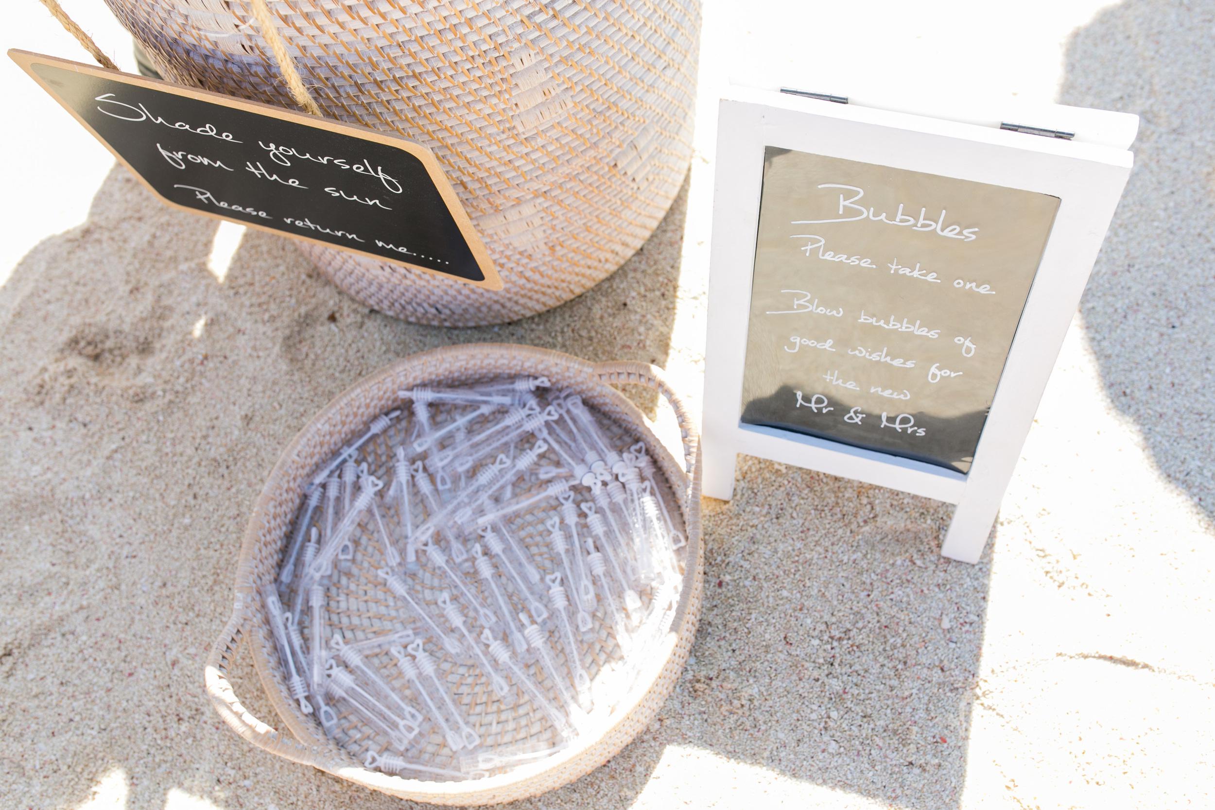 White Washed Baskets & Customised Chalk Board