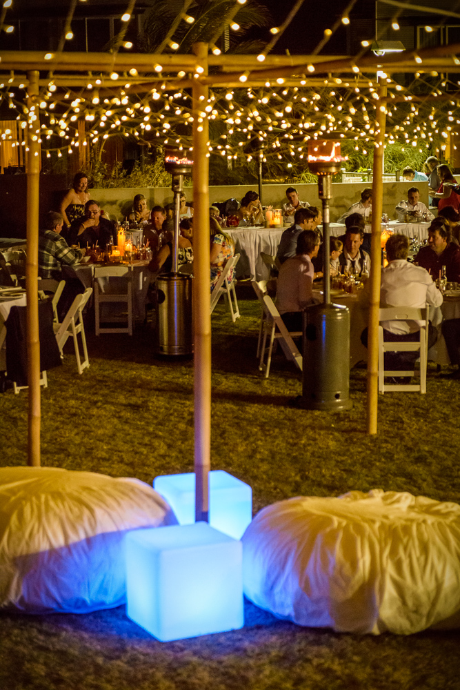 Ottomans, LED Cubes, Bamboo Marquee & Fairy Lights