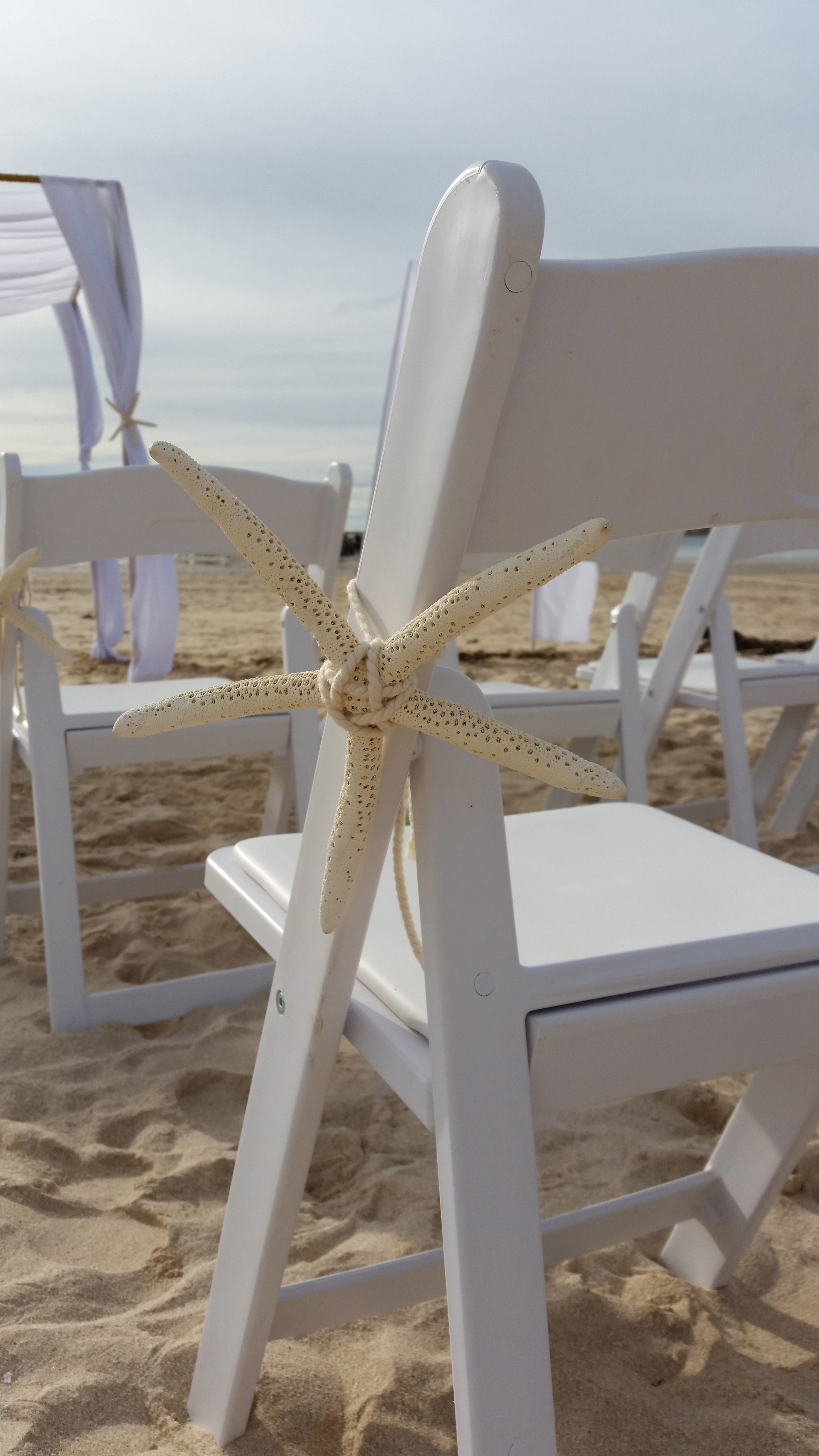 Gladiator Chairs with Large Starfish