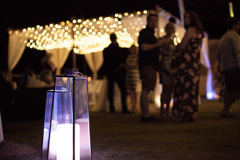 Lanterns, Bamboo Marquee & Fairy Lights